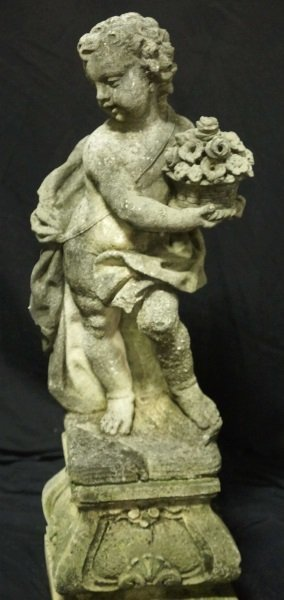 PAIR OF 19th CENTURY SHELL CRETE PUTTI SCULPTURES - 7