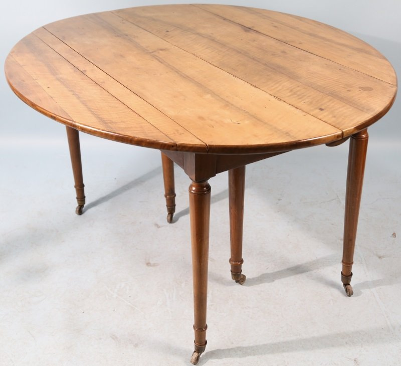 19th CENTURY FRENCH LOUIS PHILLIPE WALNUT DROP LEA