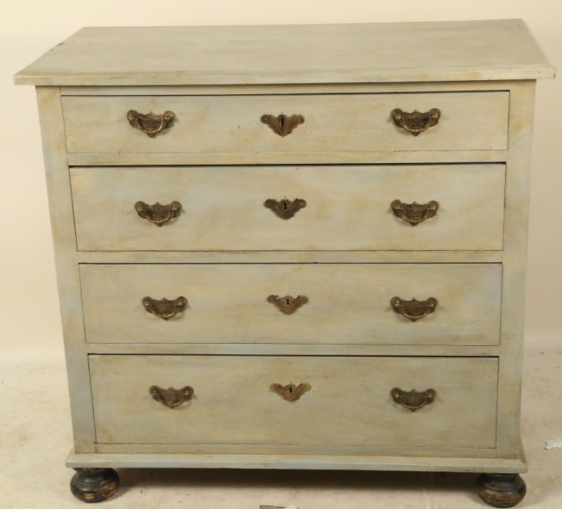 19th CENTURY GERMAN PAINTED CHEST OF DRAWERS - 2