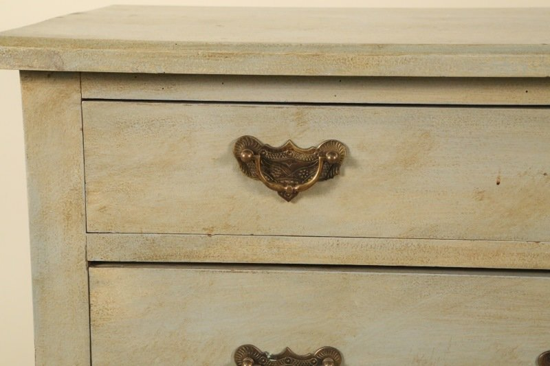 19th CENTURY GERMAN PAINTED CHEST OF DRAWERS - 4