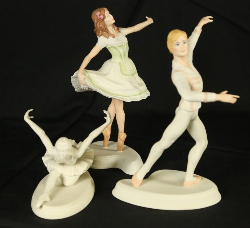 LOT OF THREE BOEHM LONDON FESTIVAL BALLET FIGURES