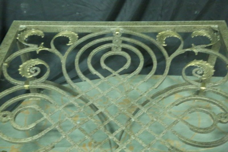 WROUGHT IRON COFFEE TABLE BASE - 3