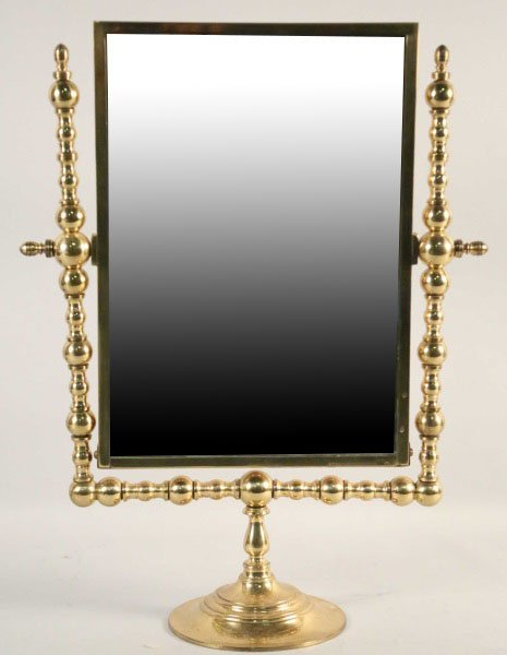 VINTAGE BRASS DRESSING MIRROR