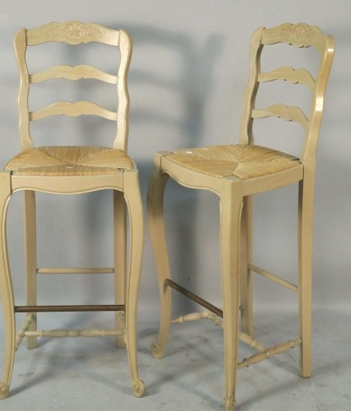 SET OF THREE COUNTRY FRENCH STYLE BARSTOOLS