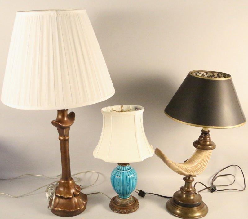 MIXED LOT OF THREE LAMPS