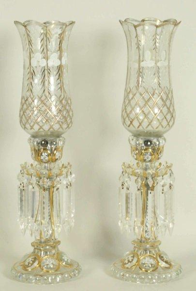 PAIR OF 19th CENTURY BACCARAT HURRICANE LAMPS