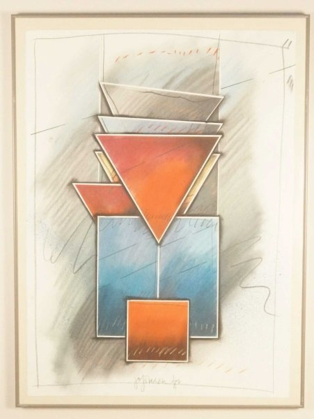 CONTEMPORARY SIGNED & DATED PASTEL ON PAPER