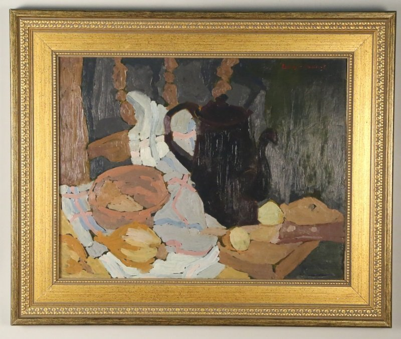 BIRGER SANDZEN ABSTRACT STILL LIFE ON CANVAS