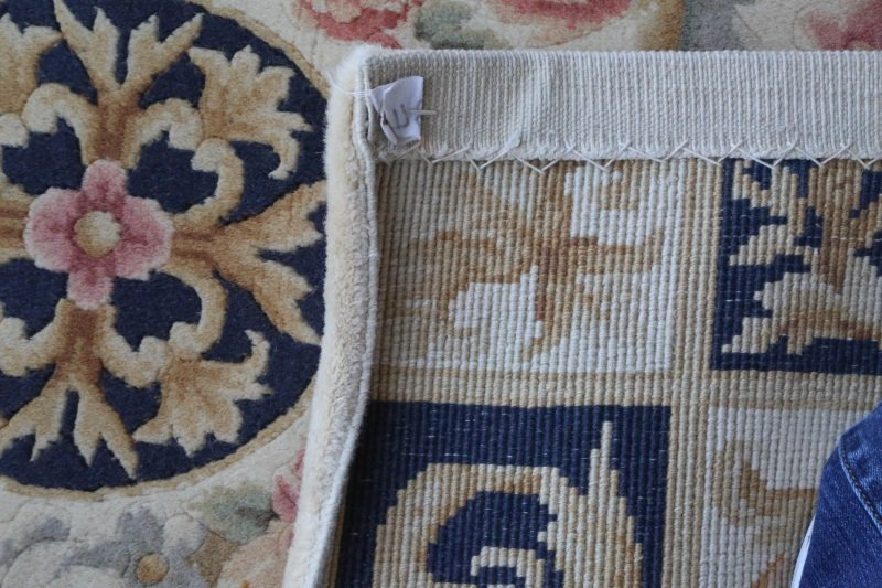 HAND KNOTTED ORIENTAL SAVONNERIE STYLE RUNNER - 3