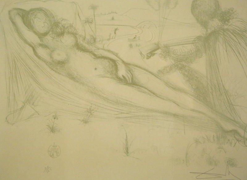 AFTER SALVADOR DALI NUDE FEMALE LITHO - 2