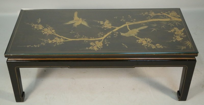EBONIZED CHINOISERIE COFFEE TABLE