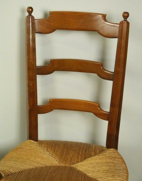 SET OF FOUR LADER BACK CHAIRS - 2