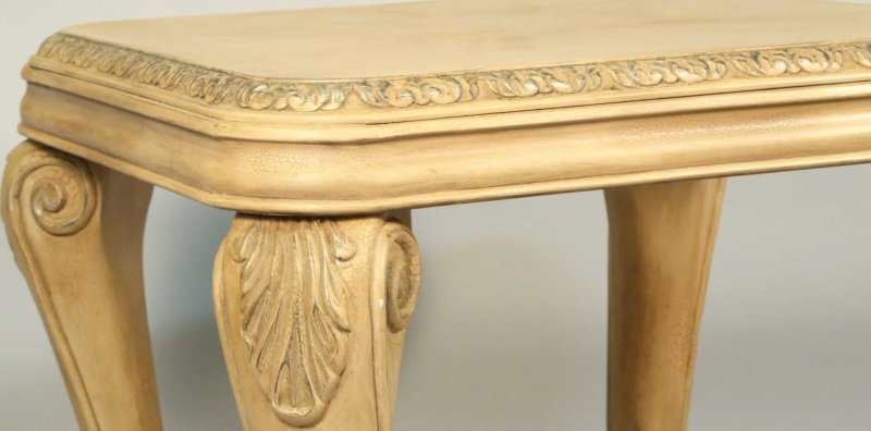 CARVED & PICKLED TWO-TIER END TABLE - 4