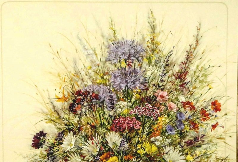 "WAINRIGHT ""GATHERED GARDEN FLOWERS"" OIL ON CANVAS - 2"