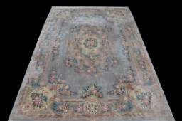 WELLPROPORTIONED HAND KNOTTED CHINESE RUG IN BLUE