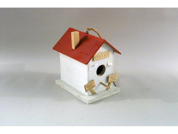1: 1159: Wood birdhouse, dentist theme   7 x 12
