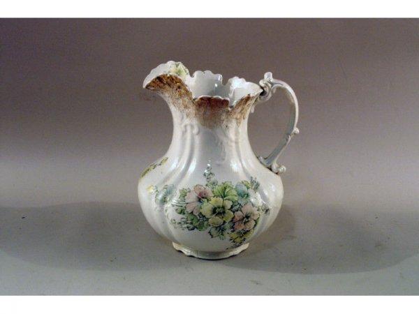4: 1156: Dresden porcelain pitcher (damaged)   10 x 1