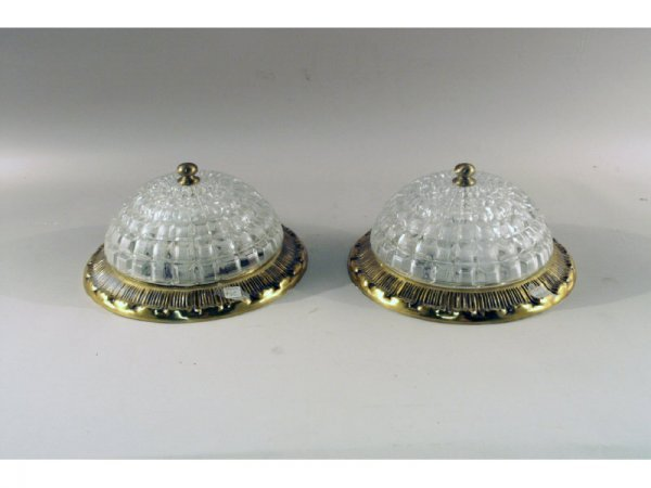 10: 1161: Pair ceiling light fixtures   11 x 5