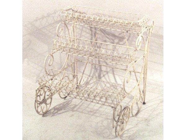 17: 1097: Iron bakers' rack/cart   29 x 29 x 24h