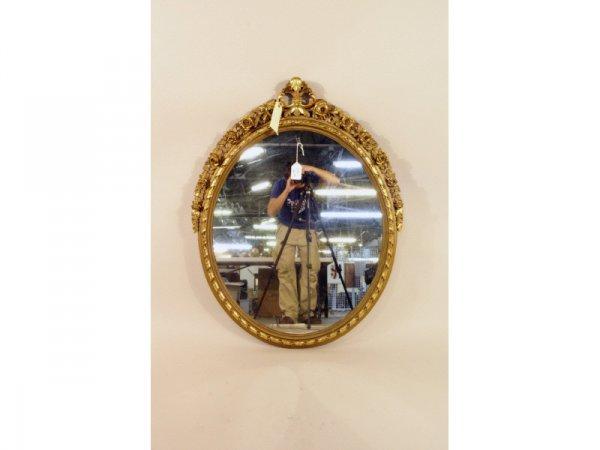 108: 1215: Carved gilt mirror   35 x 45