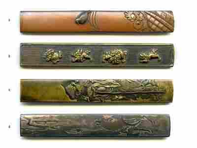 4 Samurai Sword Kozuka. Estate of Carlo Monzino.