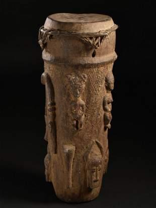 A Baule Drum (Tribal Art)