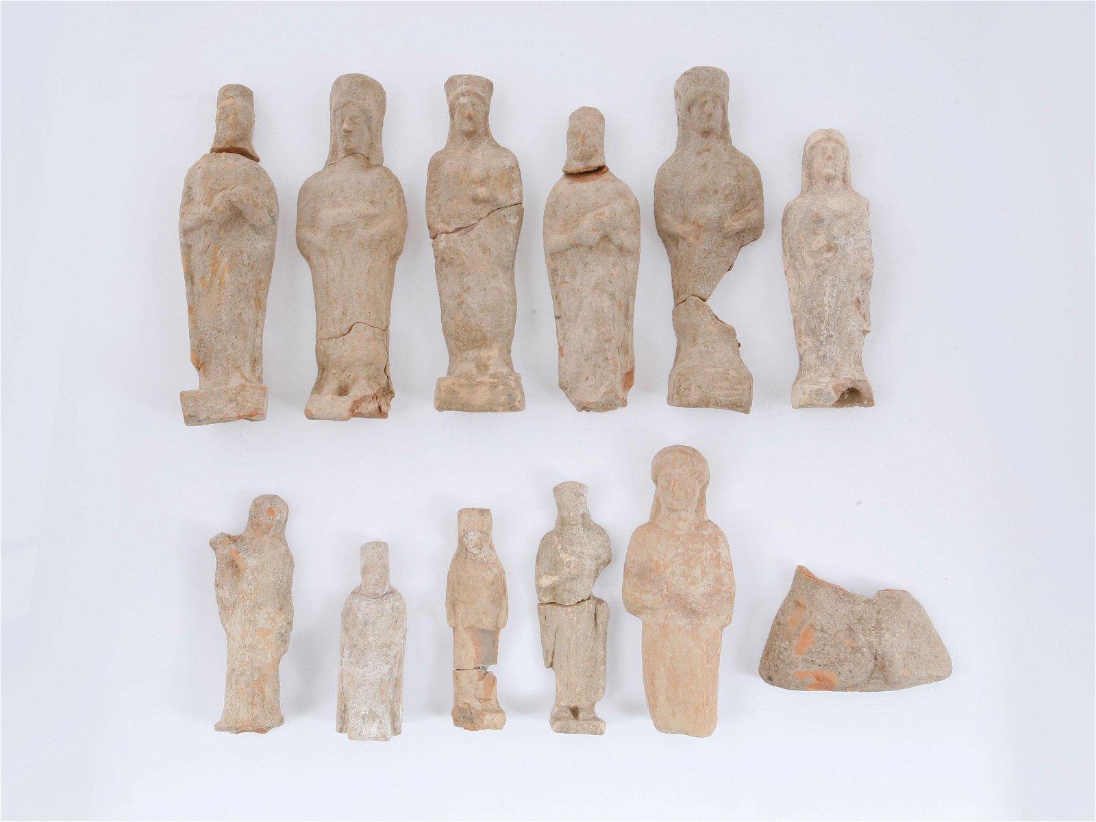 Twelve Greek Female Figures