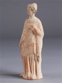 A Greek Tanagra Figure