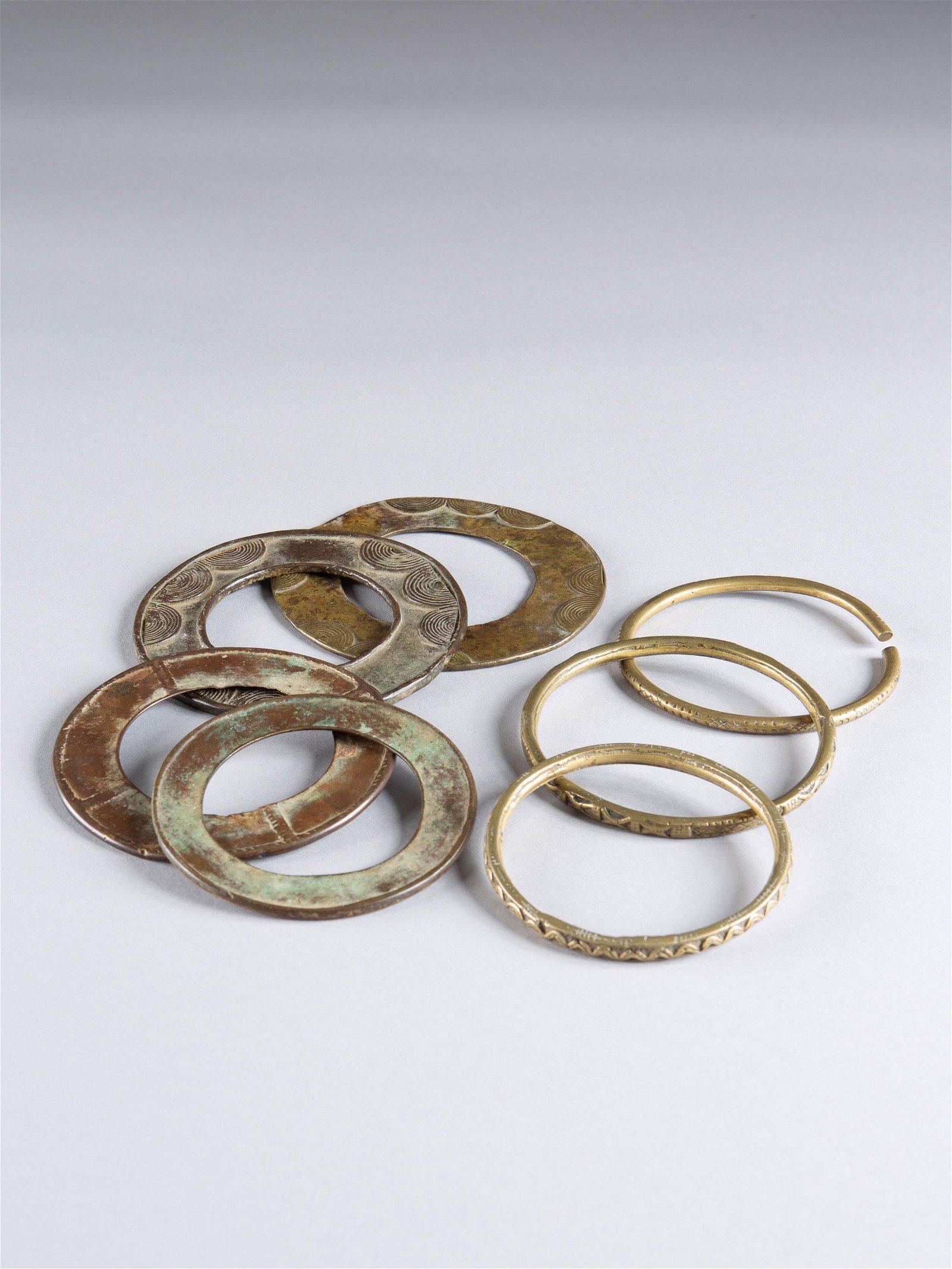 7 Frafra Bronze Bangles