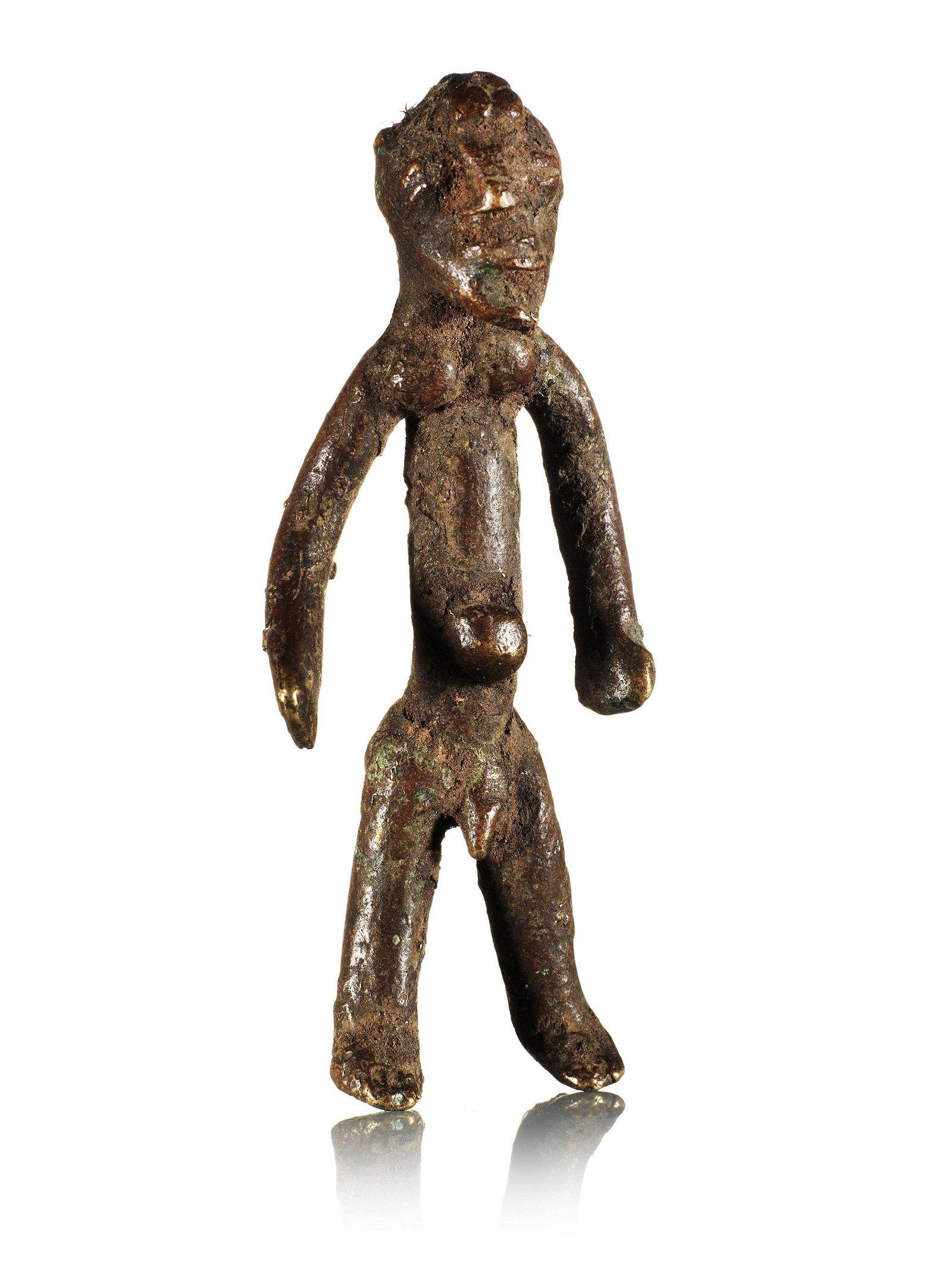 A Gurunsi Bronze Figure