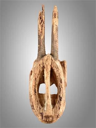 """A Dogon Mask, """"walu"""" (?)"""