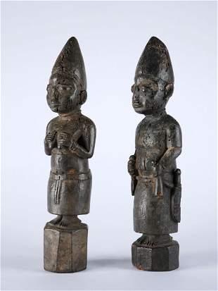A Yoruba Pair of Shrine Figures