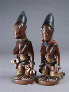 "A Yoruba Pair of Twin Figures, ""ere ibeji"""