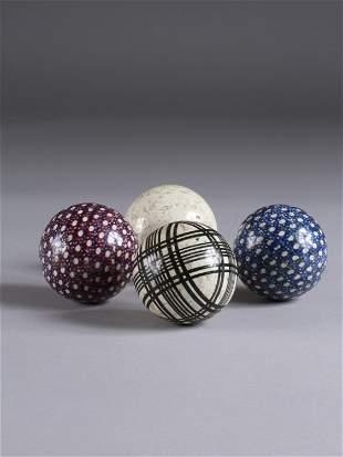 4 Scottish Victorian Carpet Bowling Balls