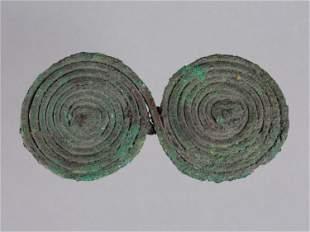 An Etruscan Two-Leaf Spiral Fibula