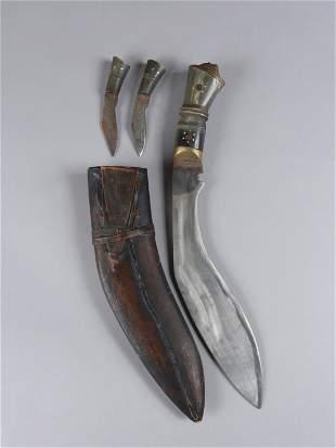 A Nepalese Lion Head Knife khukuri