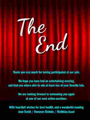 Thank you very much for having participated at our sale