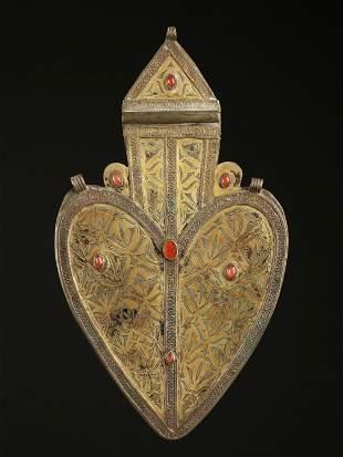 """A Turkmen Pendant, Pectoral Ornament, """"asyk"""""""