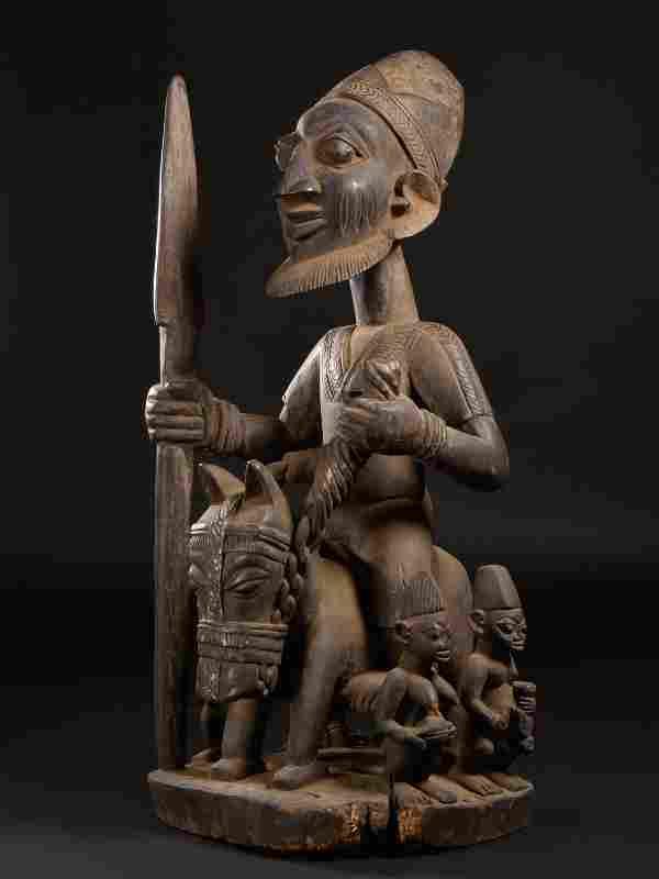 A Yoruba Equestrian with Attendants