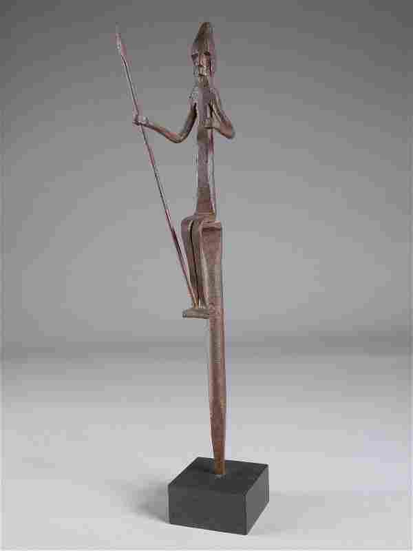 A Bamana Figure on a Staff