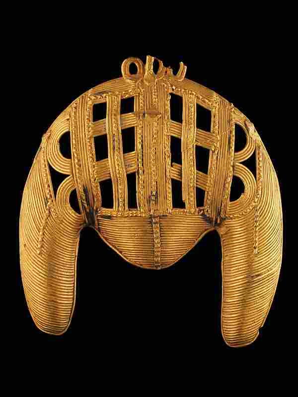 An Akan Jewelry Piece in Shape of a Ram Head