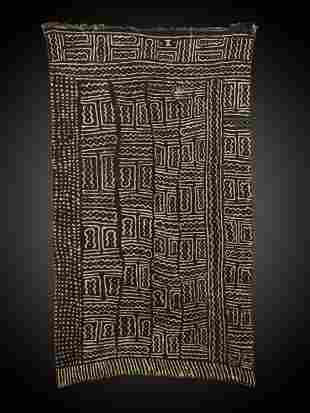 """A Bamana Woven Fabric, """"bogolan"""""""