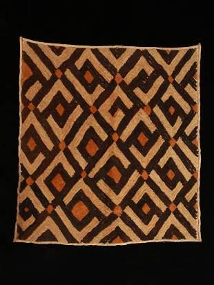 A Kuba Cut-Pile Embroidery Fabric