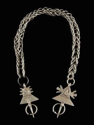 A Berber Pair of Fibulas on a Chain