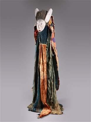A Yoruba Mask with Dance Dress