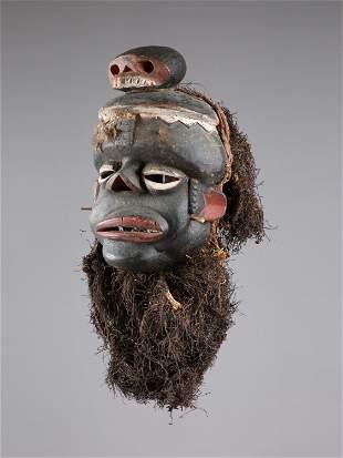 """An Ibibio Mask, """"idiok ekpo"""""""
