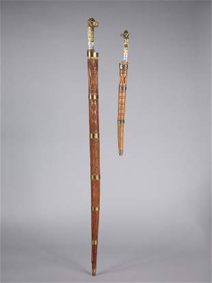A Kabylian Sword and a Short Sword with Sheaths,