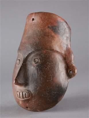 A Colima Terracotta Mask