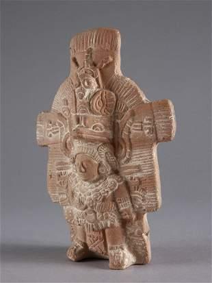 A Mayan Figurative Terracotta Relief