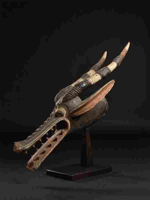 "A Senufo Zoomorphic Mask, ""kâgba"""